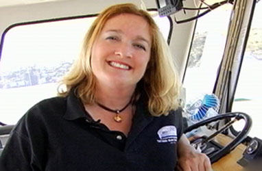 Click Photo to watch Captain Maggie - SF Bay Travel Experts 1-Minute Island Adventures Video