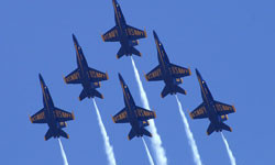 Catch the Blue Angels Air Show on Angel Island State Park.