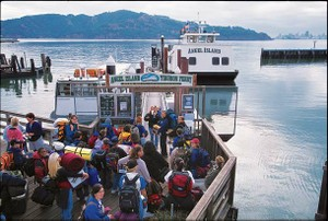 Time to relax with a ride on the Angel Island Tiburon Ferry