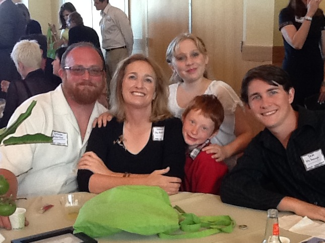 Captain Maggie McDonogh with her family Marin Magazine 2013 Editor's Choice Awards event
