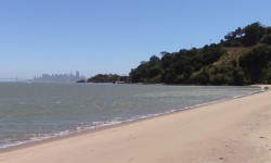 Angel Island's Quarry Beach offers a white sandy beach for strolling with million dollar views of the San Francisco skyline. Photo Credits: AngelIsland.com