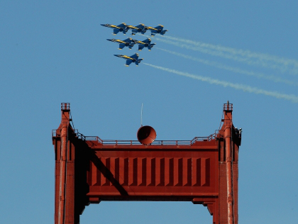 Experience the U.S. Navy Blue Angels Air Show Cruise with Angel Island - Tiburon Ferry.