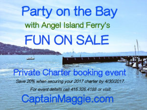 "Angel Island Ferry introduces it's ""Fun on Sale"" Private Charter Booking Event"