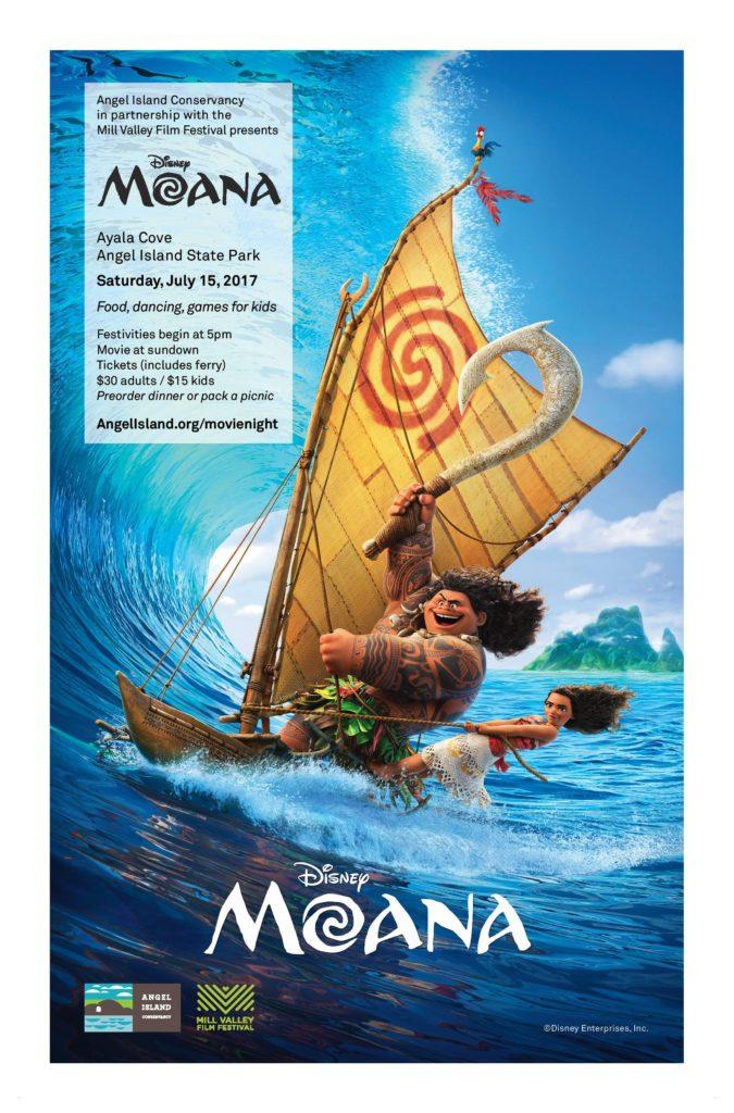 Moana Movie Screening on Angel Island