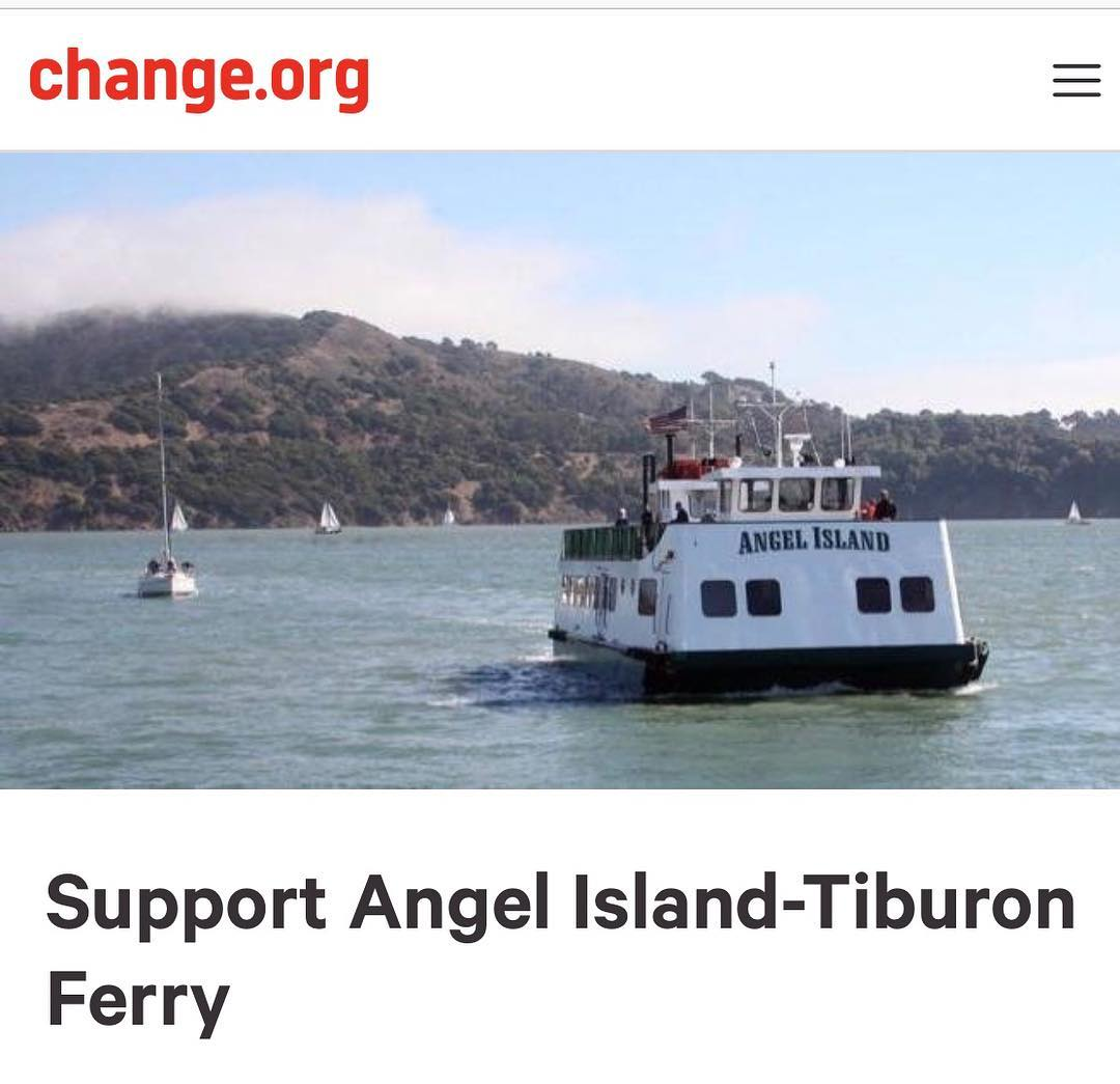 new: sign change petition supporting angel island ferry
