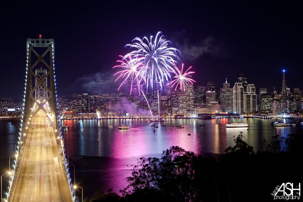 Angel Island Ferry's July Fourth Fireworks Cruise to the San Francisco Waterfront