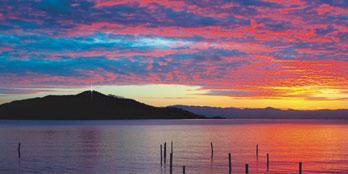 Angel Island at Sunset by AngelIsland.org