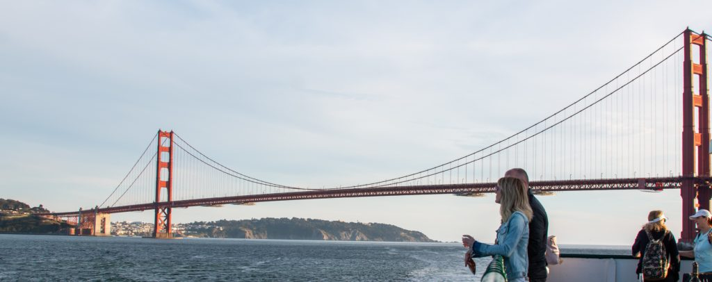 Get on board Angel Island Ferry's romantic Valentines Cruise to the Golden Gate Bridge